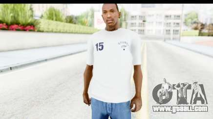 Stussy White T-Shirt for GTA San Andreas
