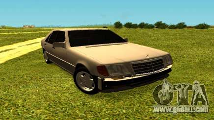 Mercedes Benz W140 for GTA San Andreas