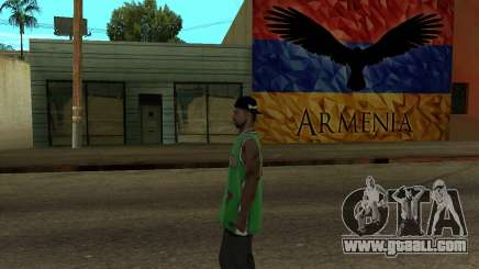 Grove Street Armenian Flag for GTA San Andreas