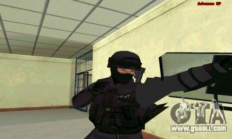 Skin SWAT GTA 5 for GTA San Andreas third screenshot