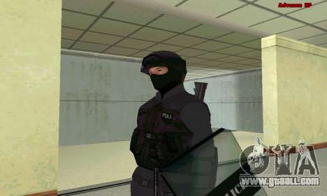 Skin SWAT GTA 5 for GTA San Andreas