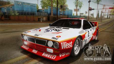 Lancia Rally 037 Stradale (SE037) 1982 IVF Dirt3 for GTA San Andreas