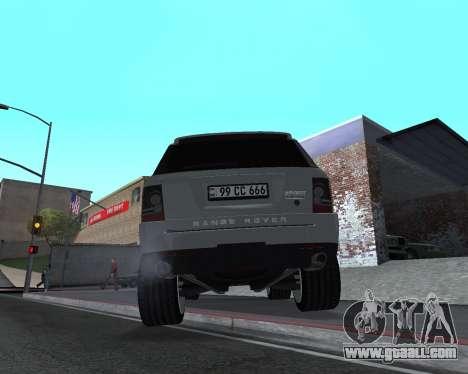 Range Rover Armenian for GTA San Andreas back view
