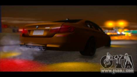 BMW M5 F10 2014 for GTA San Andreas back view