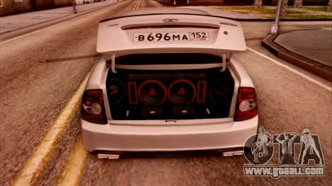 Lada Priora Autozvuk v.2 for GTA San Andreas back left view