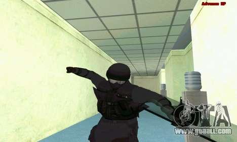 Skin SWAT GTA 5 (PS3) for GTA San Andreas eighth screenshot