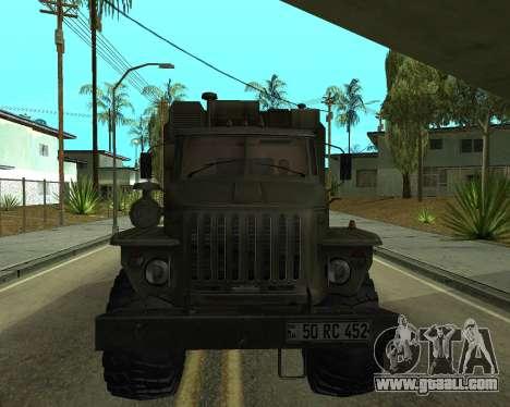 Ural 4320 Armenian for GTA San Andreas left view