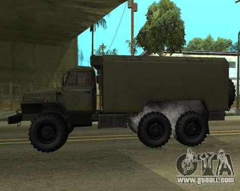 Ural 4320 Armenian for GTA San Andreas back left view