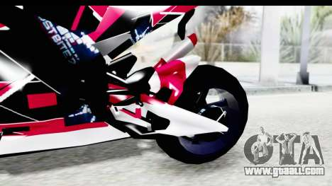 Dark Smaga Motorcycle with Frostbite 2 Logos for GTA San Andreas inner view