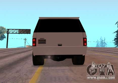 Huntley Rover for GTA San Andreas back view
