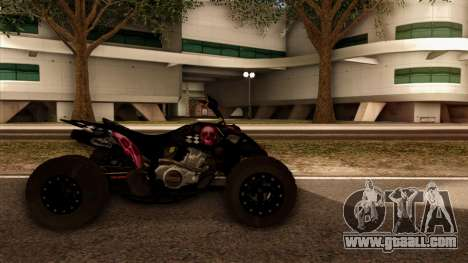 Quad Graphics Skull for GTA San Andreas back left view