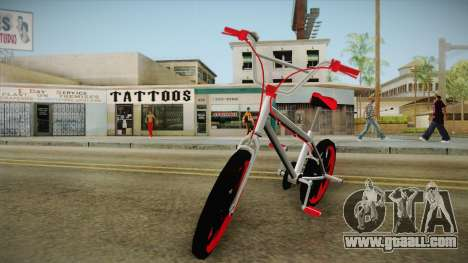 Dark Red BMX for GTA San Andreas back left view