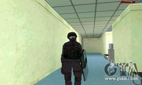 Skin SWAT GTA 5 (PS3) for GTA San Andreas sixth screenshot