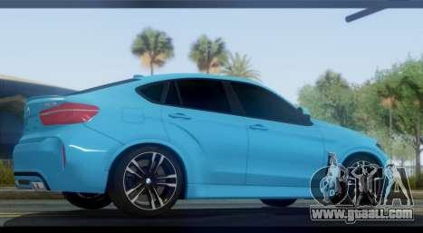 BMW X6M F86 for GTA San Andreas left view