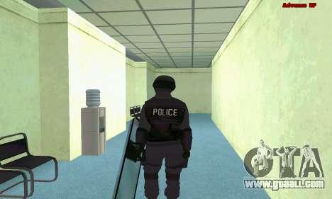 Skin SWAT GTA 5 (PS3) for GTA San Andreas forth screenshot
