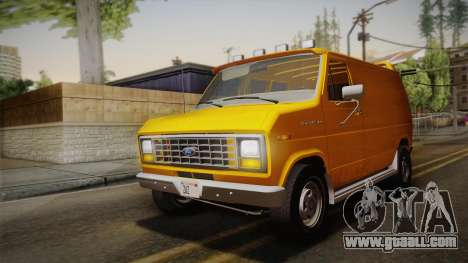 Ford E-150 Commercial Van 1982 2.0 IVF for GTA San Andreas inner view