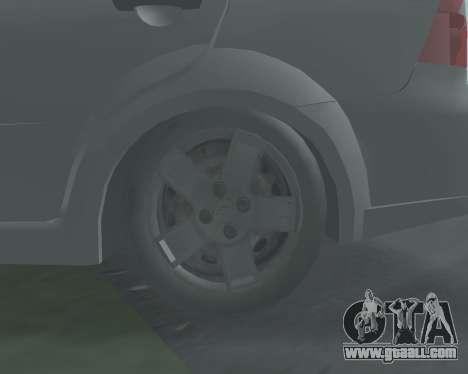 Chevrolet Aveo Armenian for GTA San Andreas inner view