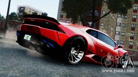 Lamborghini Huracan LB for GTA 4 left view