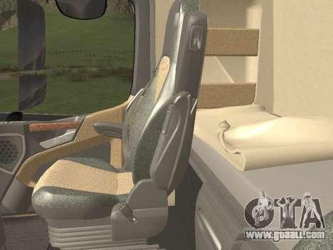 Mercedes-Benz Actros Mp4 6x4 v2.0 Steamspace v2 for GTA San Andreas interior