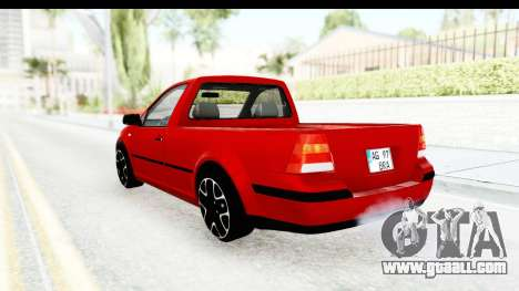 Volkswagen Golf Mk4 Pickup for GTA San Andreas left view