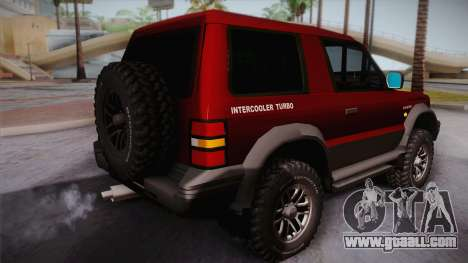 Mitsubishi Pajero 3-Door for GTA San Andreas left view