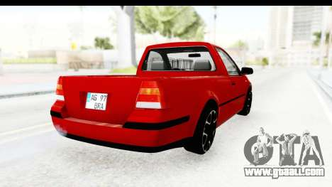 Volkswagen Golf Mk4 Pickup for GTA San Andreas back left view