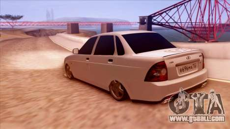 Lada Priora Autozvuk v.1 for GTA San Andreas left view
