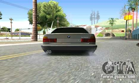 BMW 535 for GTA San Andreas back left view
