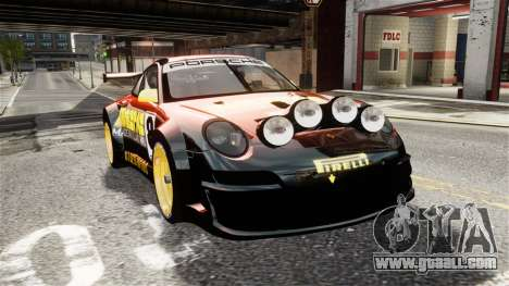 Porsche Rallye Vespas 911 GT3 RSR for GTA 4 right view