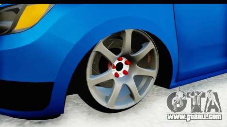 Dacia Sandero 2013 for GTA San Andreas back view