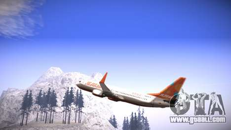 Boeing 737-800 Jeju Air for GTA San Andreas left view