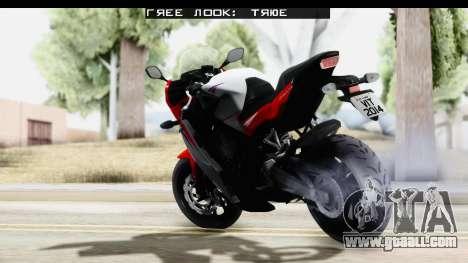 Honda CBR650F for GTA San Andreas left view