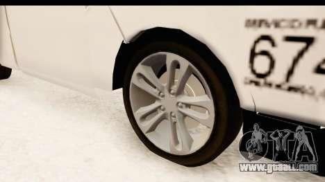 Nissan NV350 Urvan Comercial Mexicana for GTA San Andreas back view