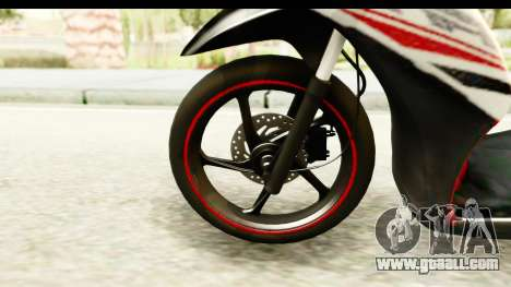 Yamaha Mio GT Standart for GTA San Andreas back view