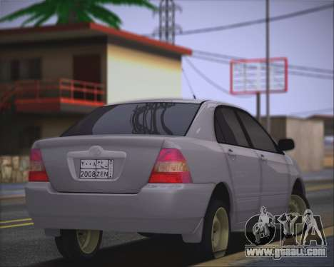 Toyota Corolla 120 for GTA San Andreas left view