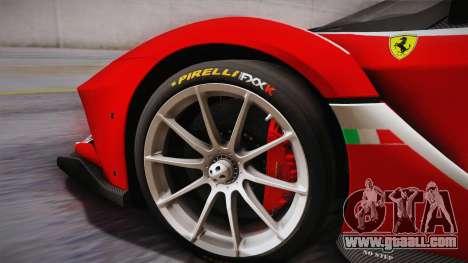 Ferrari FXX-K 2015 for GTA San Andreas back left view