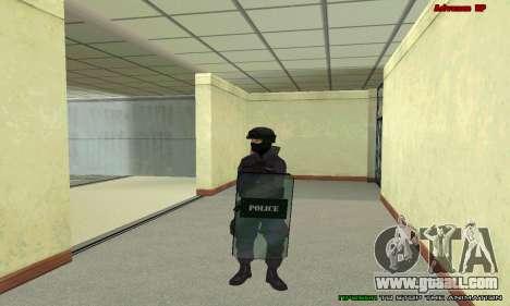 Skin SWAT GTA 5 for GTA San Andreas eighth screenshot