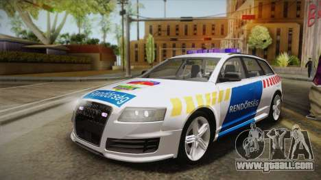 Audi RS6 Hungarian Police for GTA San Andreas