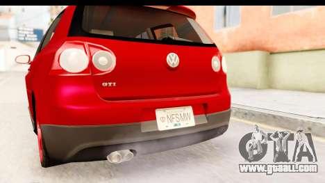 Volkswagen Golf GTI for GTA San Andreas upper view