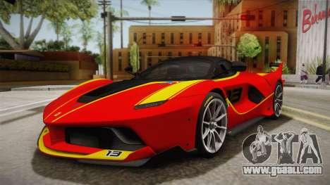 Ferrari FXX-K 2015 for GTA San Andreas side view