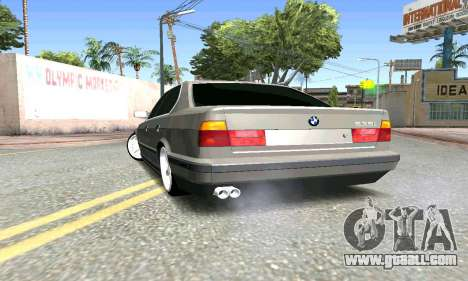 BMW 535i E34 for GTA San Andreas back left view