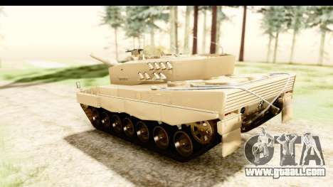 Leopard 2A4 for GTA San Andreas back left view
