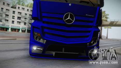 Mercedes-Benz Actros Mp4 v2.0 Tandem Steam for GTA San Andreas side view
