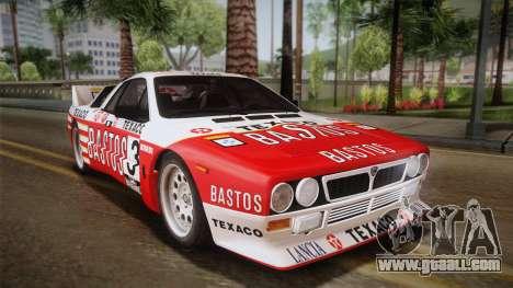 Lancia Rally 037 Stradale (SE037) 1982 Dirt PJ2 for GTA San Andreas left view