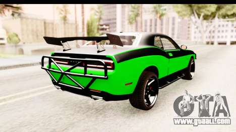 Dodge Challenger F&F 7 for GTA San Andreas right view