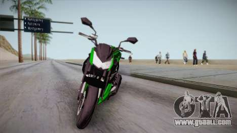 Kawasaki Z1000 2013 for GTA San Andreas back left view