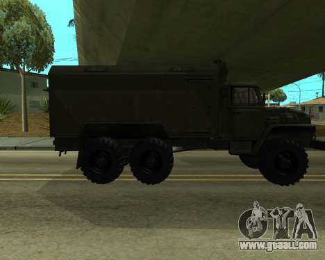 Ural 4320 Armenian for GTA San Andreas back view