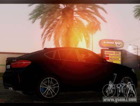 BMW X6M BULKIN SAMP EDITION for GTA San Andreas back left view