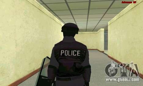 Skin SWAT GTA 5 for GTA San Andreas sixth screenshot