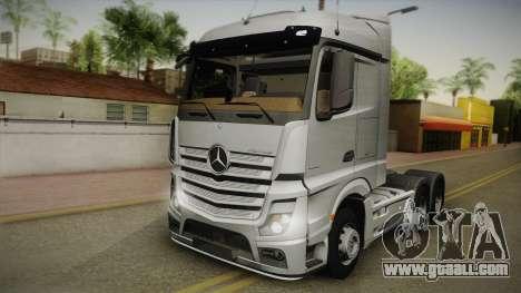 Mercedes-Benz Actros Mp4 6x4 v2.0 Steamspace v2 for GTA San Andreas